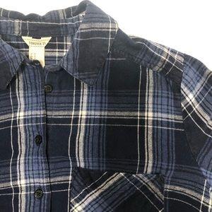 Blue Forever 21 Flannel Shirt Dress